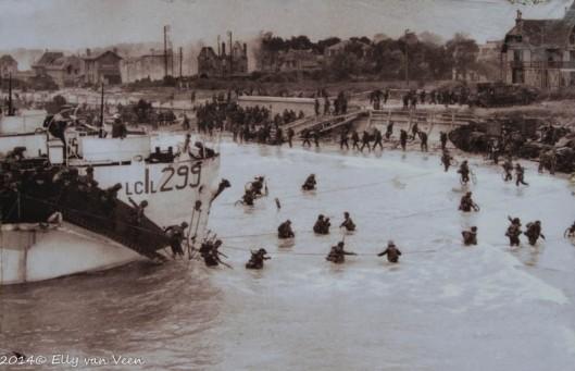 Het bestormen van de stranden in Normandië