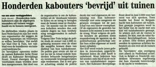 de Zwolse Courant van 18 februari 2002