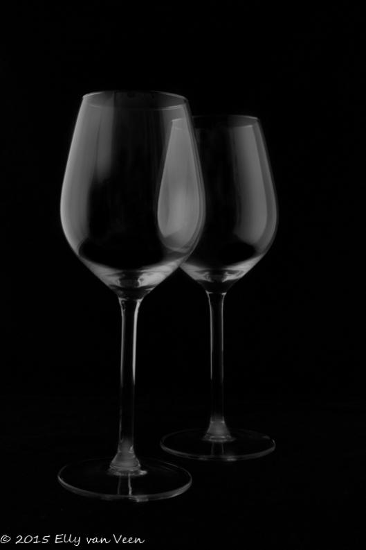 De wijnglazen